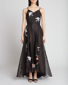 Embroidered Silk Bird Dress