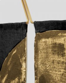 Ballena Wall Hanging - Gold/Black