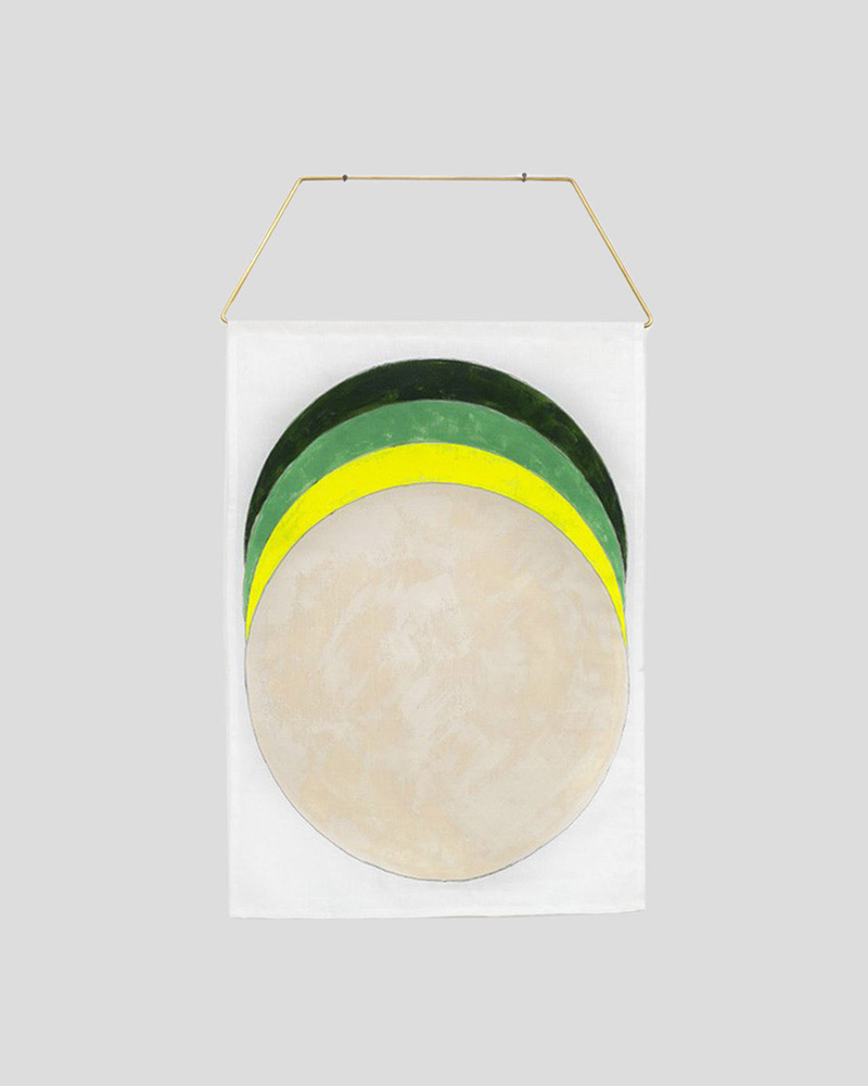 Eclipse Wall Hanging - Green/Yellow