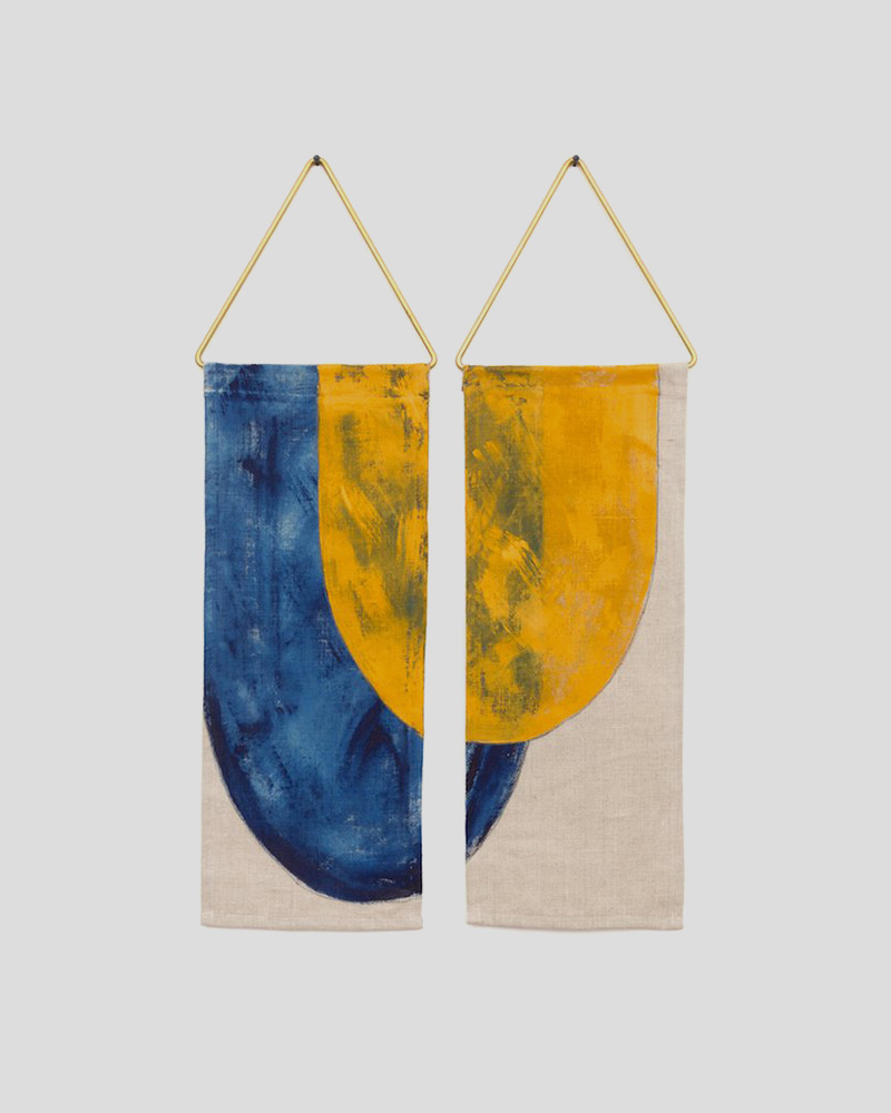 Pez Wall Hanging - Blue/Yellow