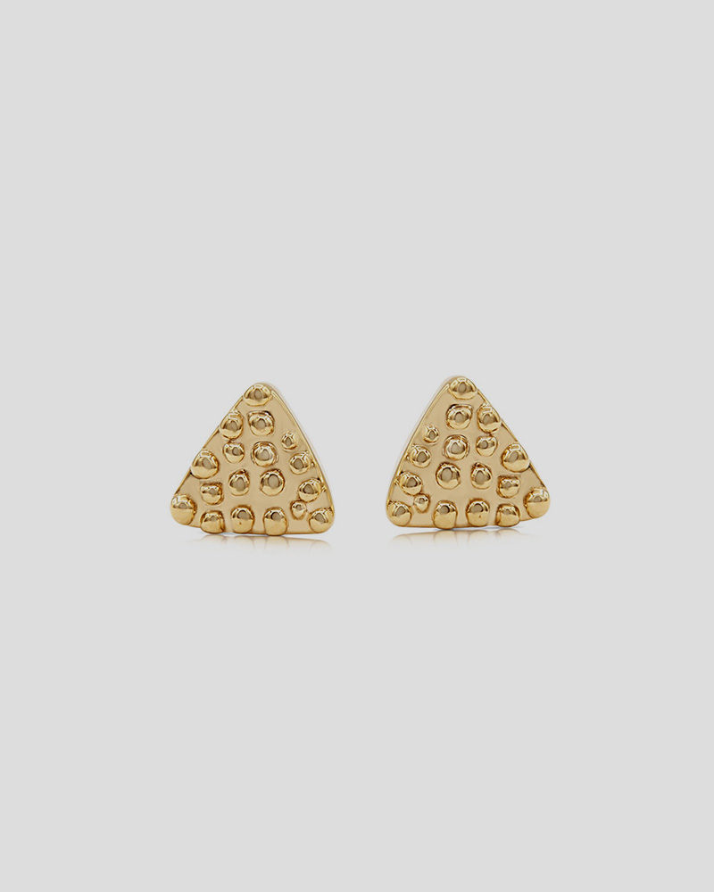 Triangle Dots Studs
