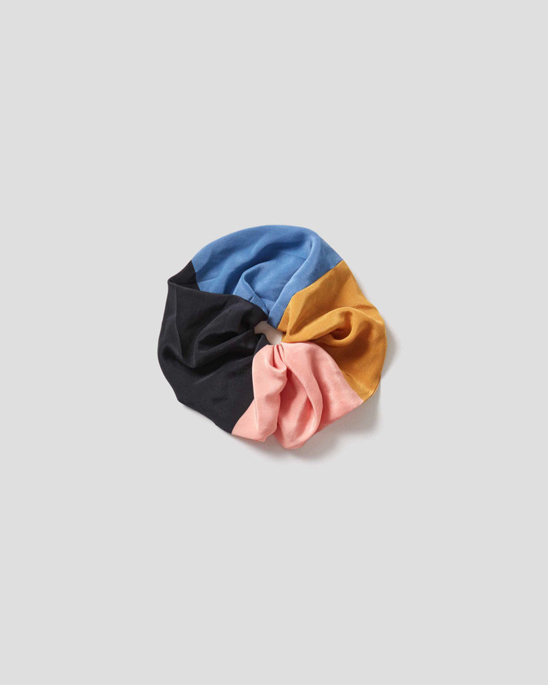Color Block Sketch Large Scrunchie