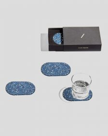 Rubber Oval Coasters (set 4) - Royal
