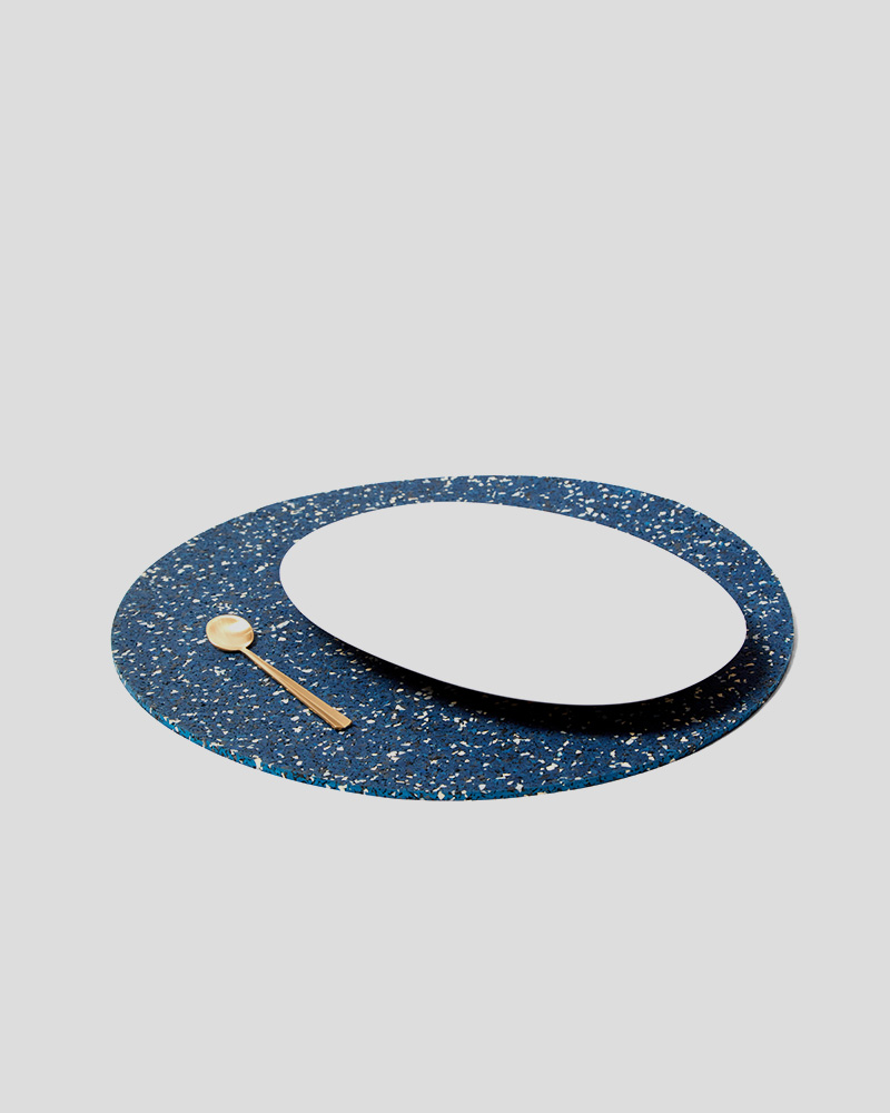 "Rubber Mat 15"" Round - Royal"