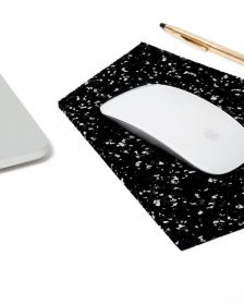 "Rubber Mouse Pad 10"" x 6.5"" - Speckled Black"