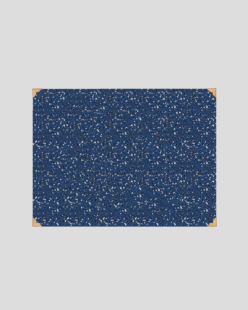 "Rubber Desk Mat 18"" x 24"" - Royal"