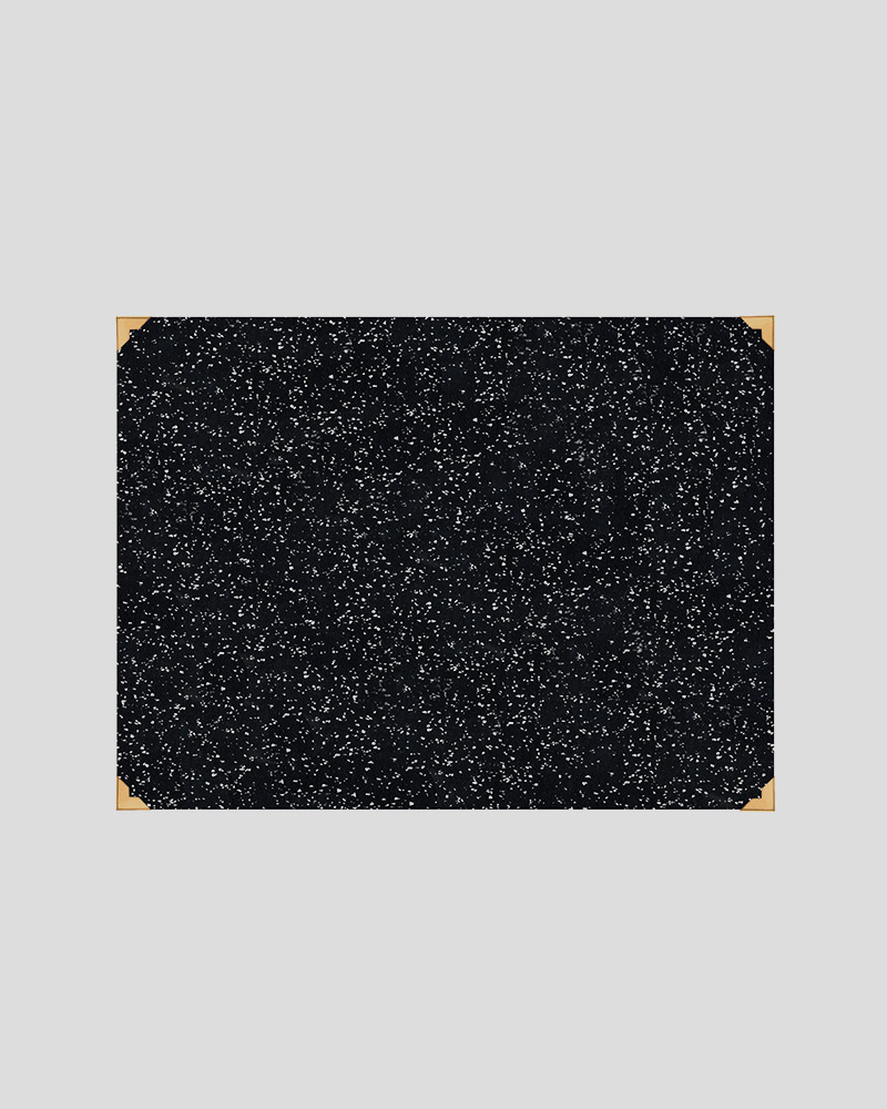 "Rubber Desk Mat 18"" x 24"" - Speckled Black"