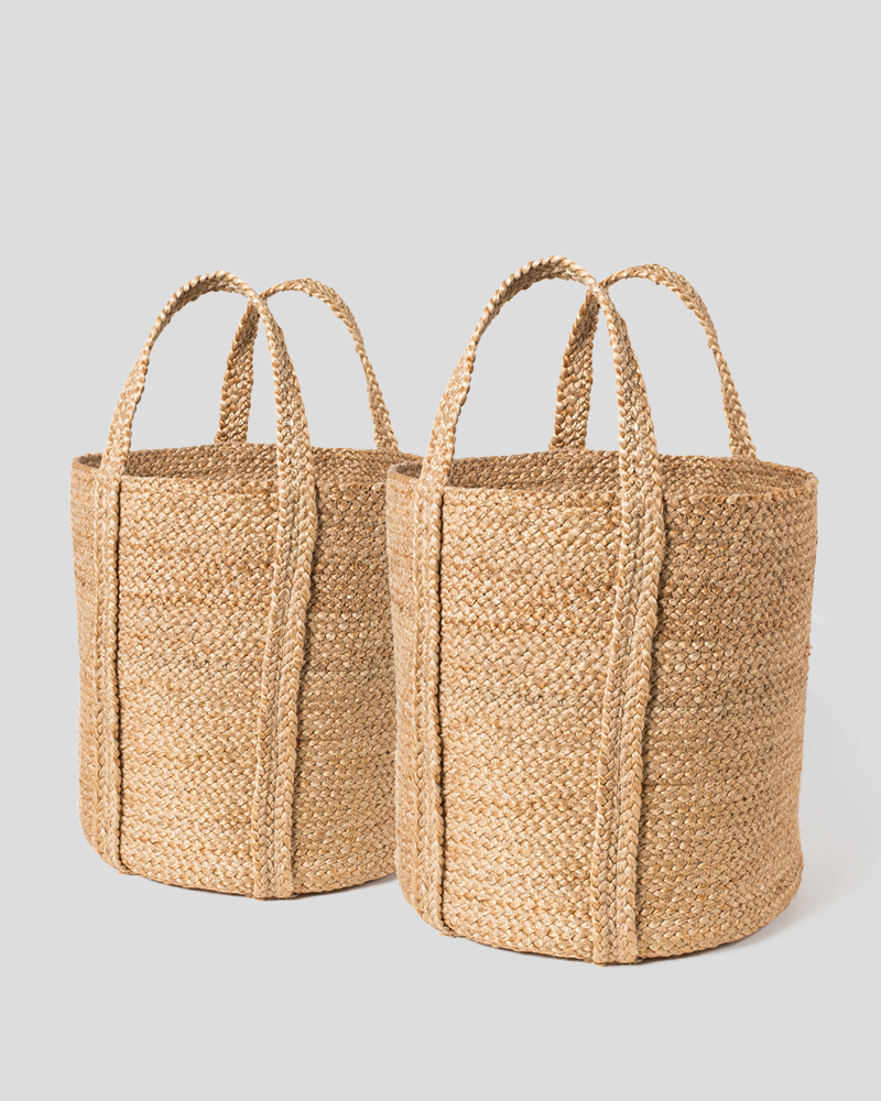 Kata Basket with handle - Natural (Set of 2)