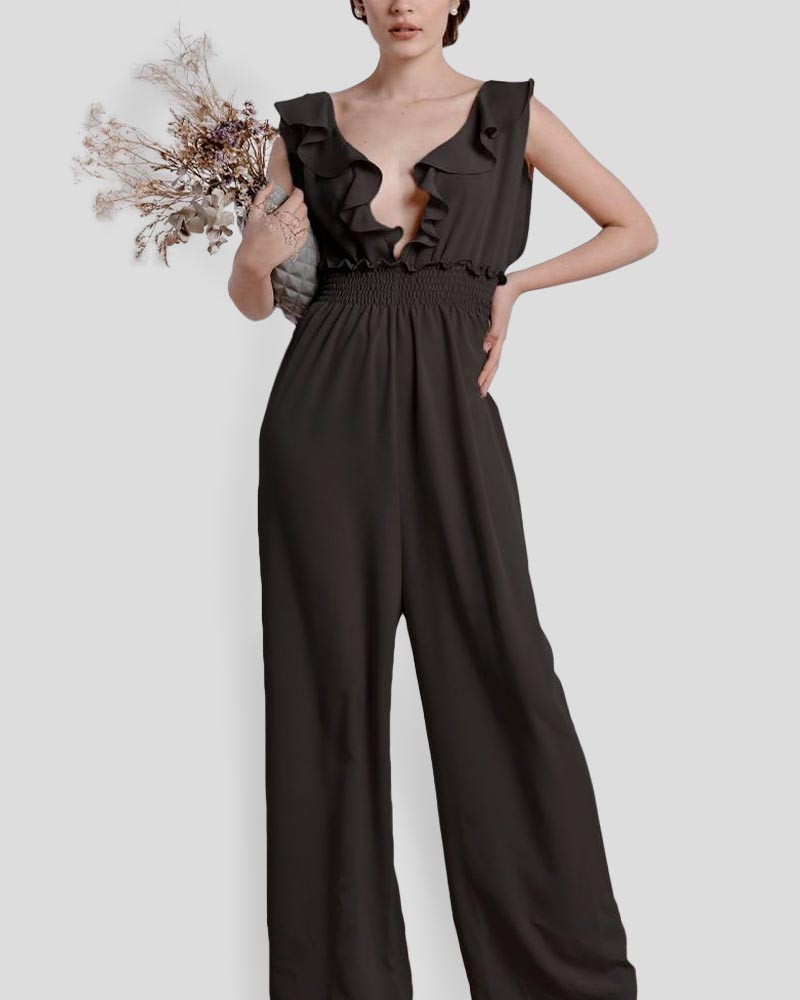 The Farah Jumpsuit in Black