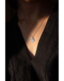 Ace of Heart Necklace - 14k Yellow Gold