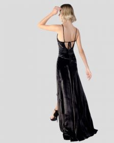 GRACE Velvet Gown in Black