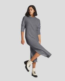 Blair Cashmere Sweater Dress in Charcoal