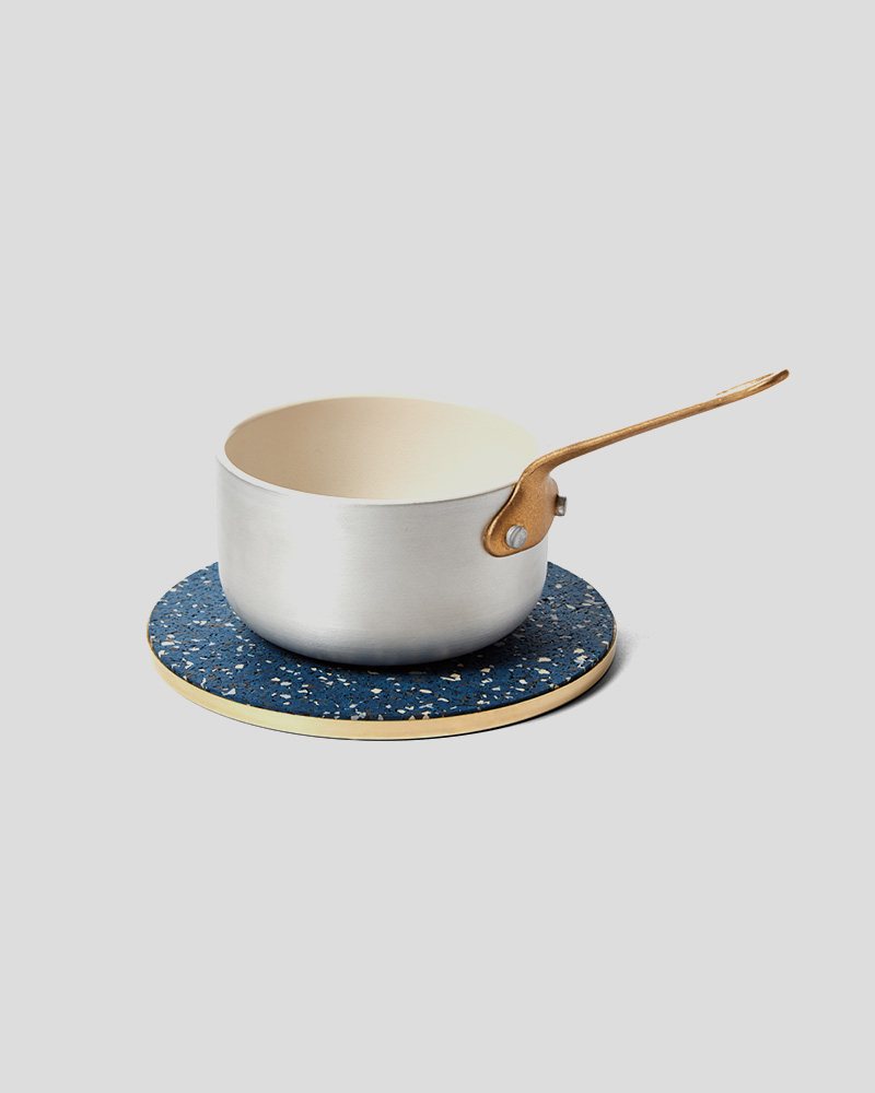 """Brass and Rubber Trivet 6"""" Round - Royal"""