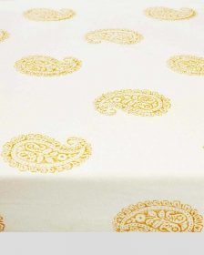Mustard Paisley Fitted Crib Sheet